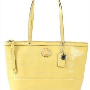 Coach Patent Leather Tote/Shoulder Bag